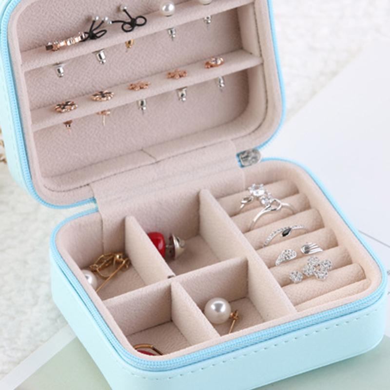 Caja-de-Almacenamiento-de-Joyas-de-PU-de-una-Sola-Capa-de-Cuero-Pendientes-Q3M9 miniatura 5