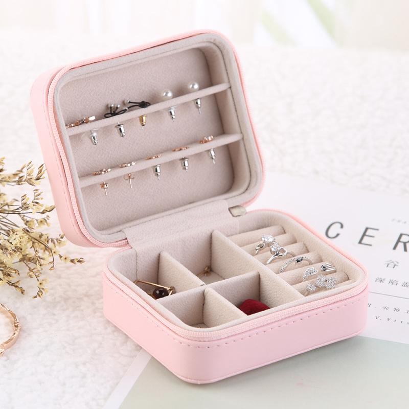 Caja-de-Almacenamiento-de-Joyas-de-PU-de-una-Sola-Capa-de-Cuero-Pendientes-Q3M9 miniatura 6
