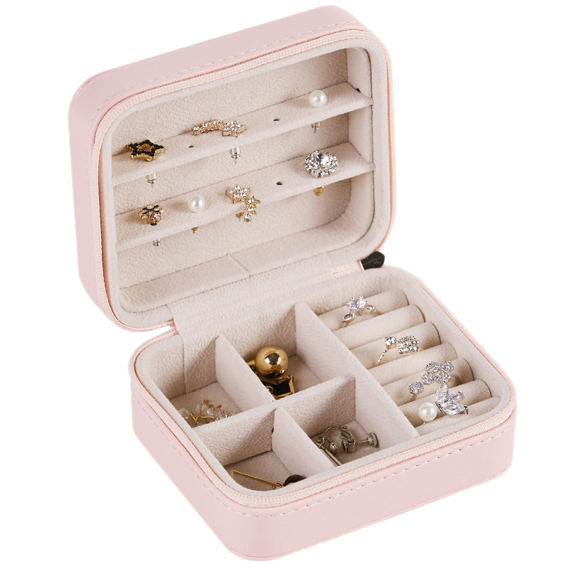 Caja-de-Almacenamiento-de-Joyas-de-PU-de-una-Sola-Capa-de-Cuero-Pendientes-Q3M9 miniatura 9
