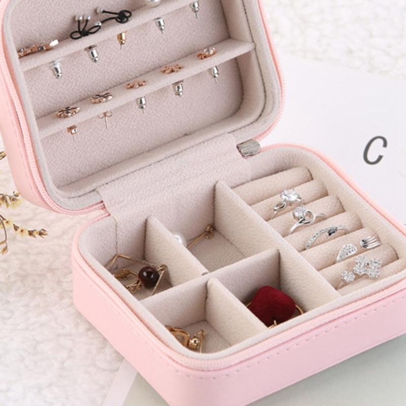 Caja-de-Almacenamiento-de-Joyas-de-PU-de-una-Sola-Capa-de-Cuero-Pendientes-Q3M9 miniatura 16