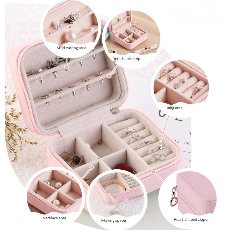 Caja-de-Almacenamiento-de-Joyas-de-PU-de-una-Sola-Capa-de-Cuero-Pendientes-Q3M9 miniatura 19