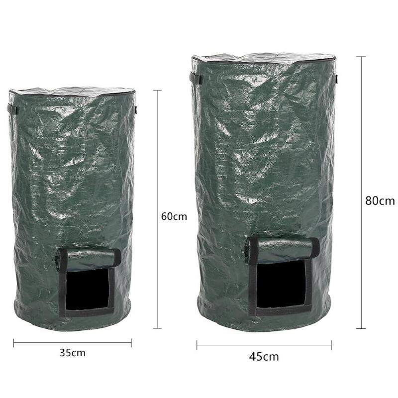 Bio-Abfall-KueChen-Garten-Hof-Kompost-Beutel-Umwelt-PE-Tuch-Pflanzgefaess-KueCh-B5K9 Indexbild 7