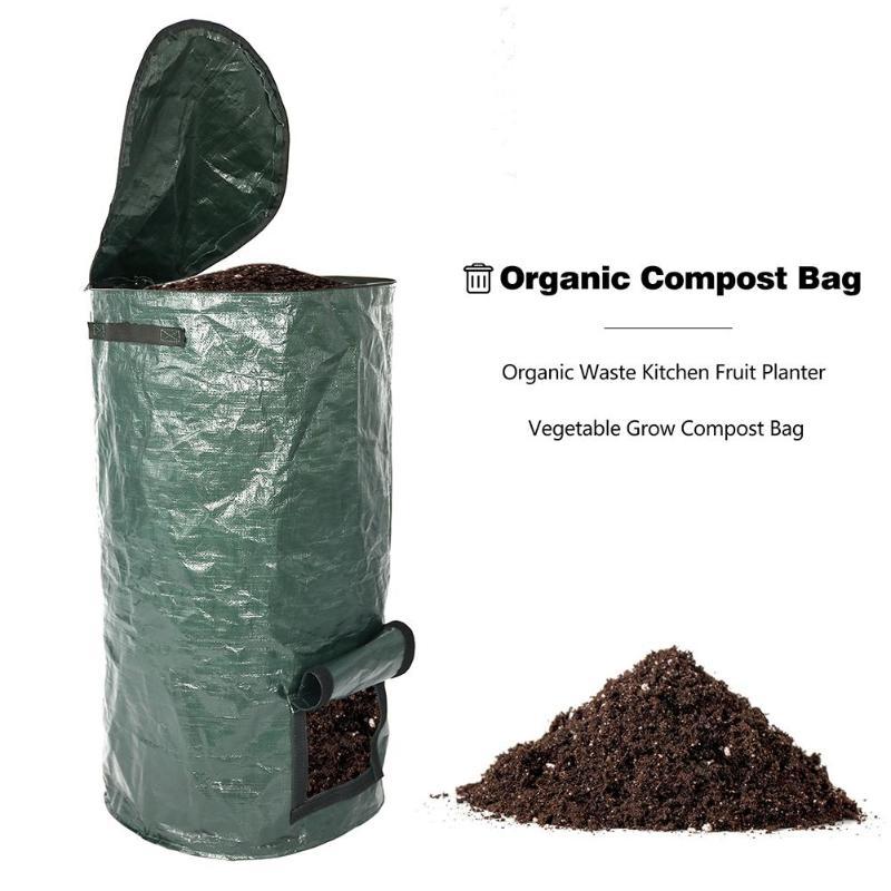 Bio-Abfall-KueChen-Garten-Hof-Kompost-Beutel-Umwelt-PE-Tuch-Pflanzgefaess-KueCh-B5K9 Indexbild 8