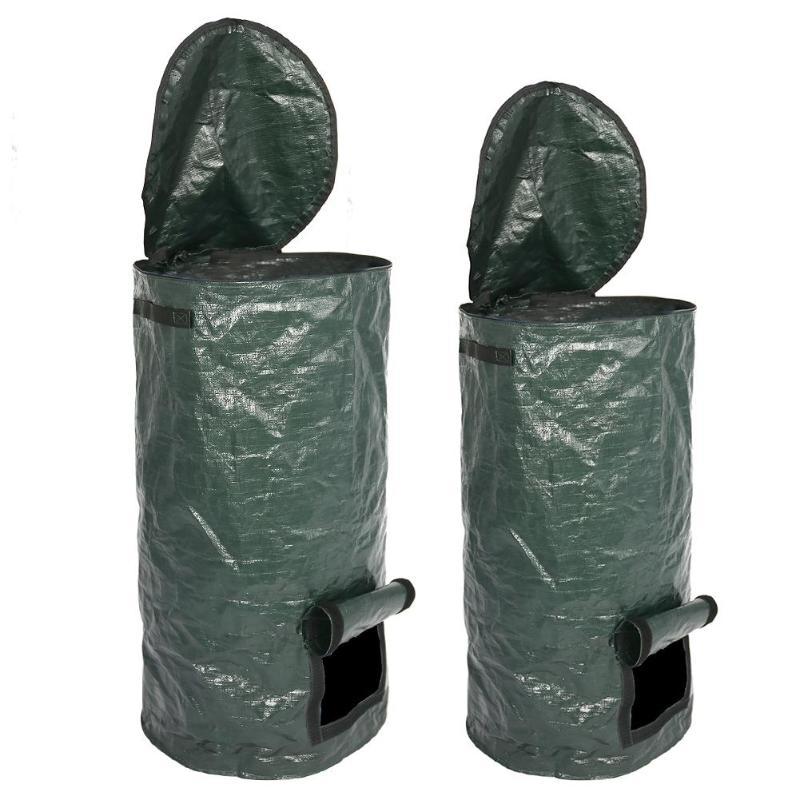 Bio-Abfall-KueChen-Garten-Hof-Kompost-Beutel-Umwelt-PE-Tuch-Pflanzgefaess-KueCh-B5K9 Indexbild 10