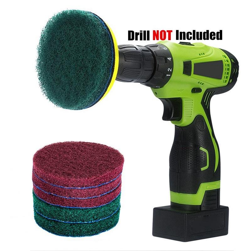 Taladro-Power-Brush-Azulejo-Scrubber-Estropajos-Kit-de-Limpieza-Herramienta-de miniatura 3