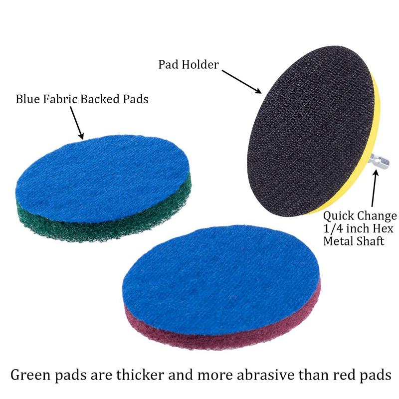 Taladro-Power-Brush-Azulejo-Scrubber-Estropajos-Kit-de-Limpieza-Herramienta-de miniatura 4