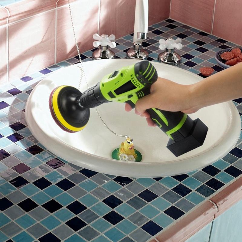 Taladro-Power-Brush-Azulejo-Scrubber-Estropajos-Kit-de-Limpieza-Herramienta-de miniatura 6