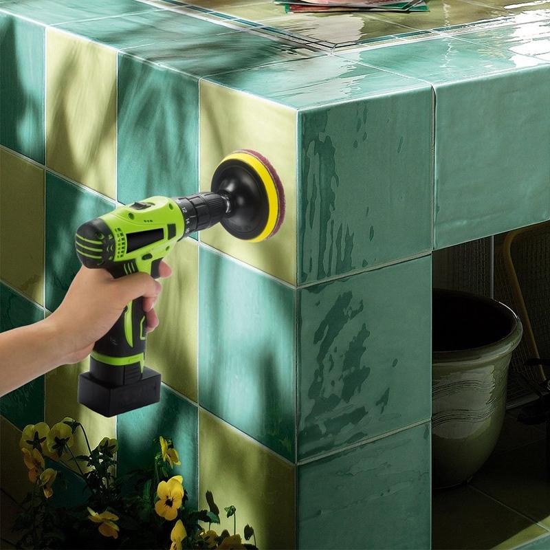 Taladro-Power-Brush-Azulejo-Scrubber-Estropajos-Kit-de-Limpieza-Herramienta-de miniatura 7