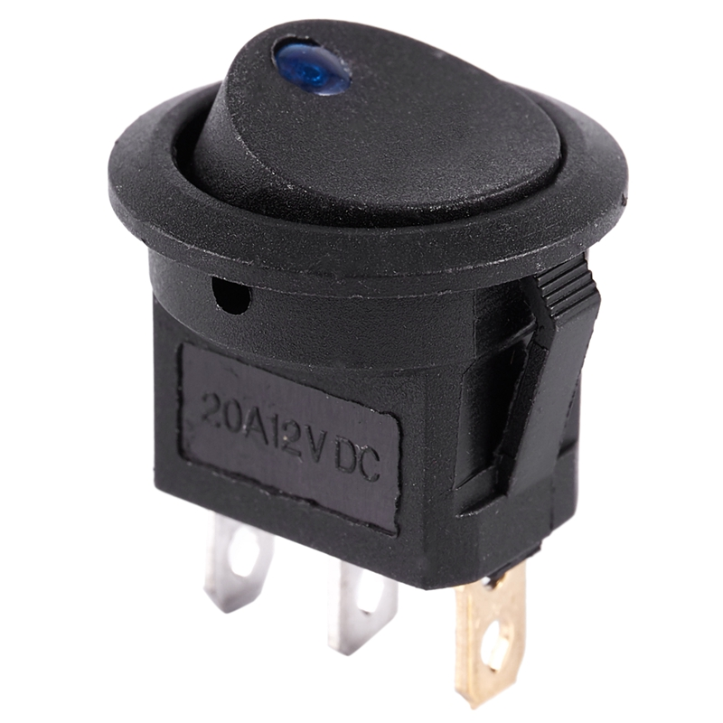 thumbnail 3 - 12V-LED-Inverter-Rocking-Rocker-Switch-ROUND-SPST-ON-OFF-for-BOAT-Car-Q4I3