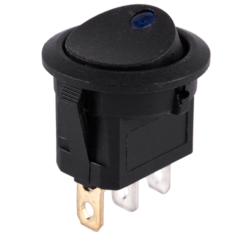 thumbnail 4 - 12V-LED-Inverter-Rocking-Rocker-Switch-ROUND-SPST-ON-OFF-for-BOAT-Car-Q4I3