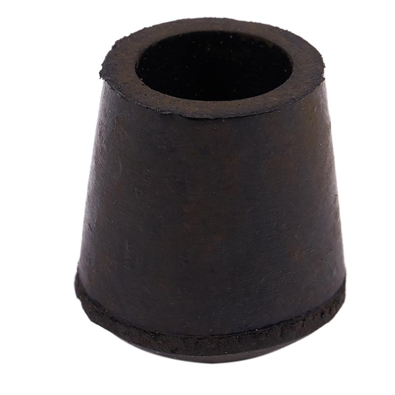 4x Schwarz PVC Stuhl Platz Anti Scratch Möbel Bein Bodenschutz Endkappen Caps