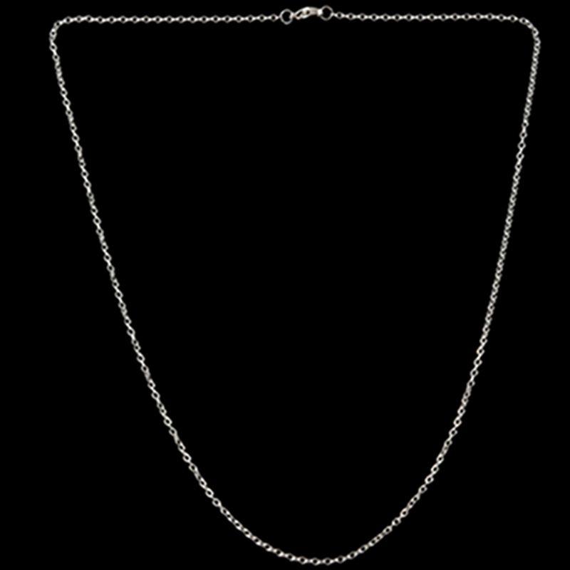 """Indexbild 7 - Schmuck Damen Kette,Edelstahl """"O"""" Halskette,Silber-Breite 2mm-Laenge 50cm W9X7"""