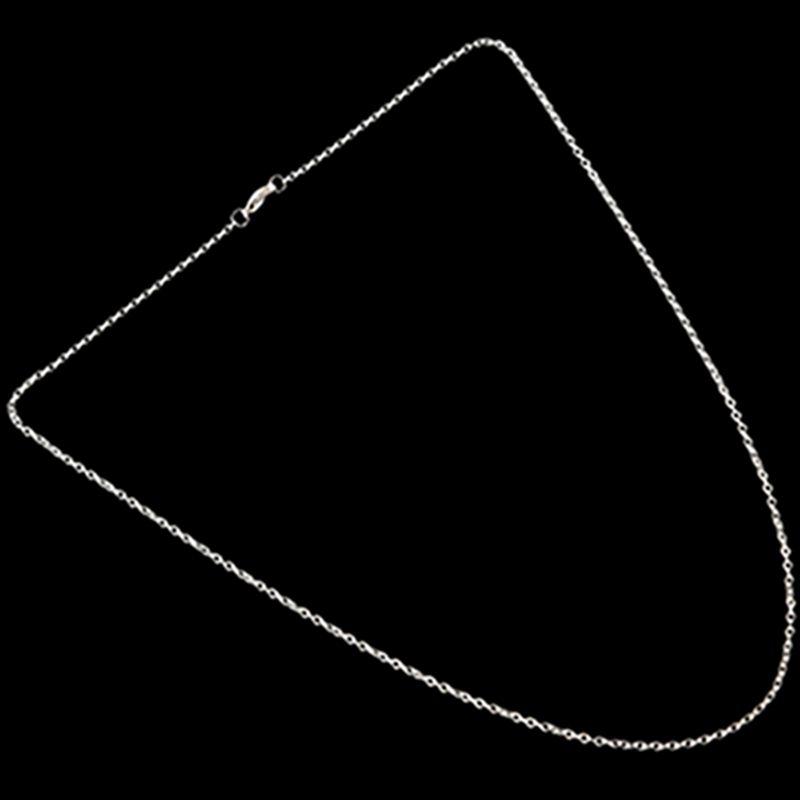 """Indexbild 8 - Schmuck Damen Kette,Edelstahl """"O"""" Halskette,Silber-Breite 2mm-Laenge 50cm W9X7"""