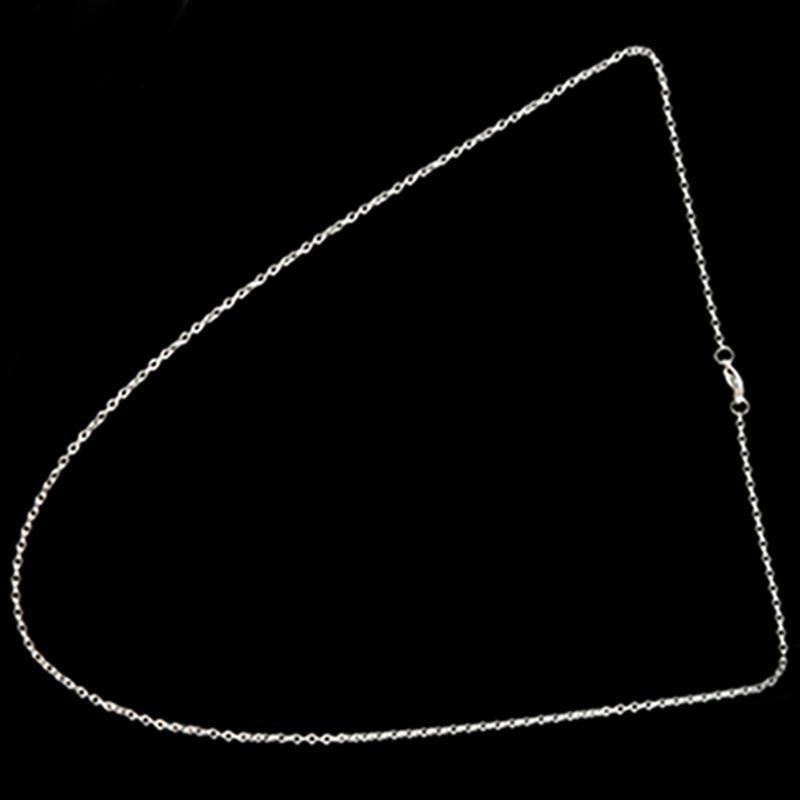 """Indexbild 9 - Schmuck Damen Kette,Edelstahl """"O"""" Halskette,Silber-Breite 2mm-Laenge 50cm W9X7"""