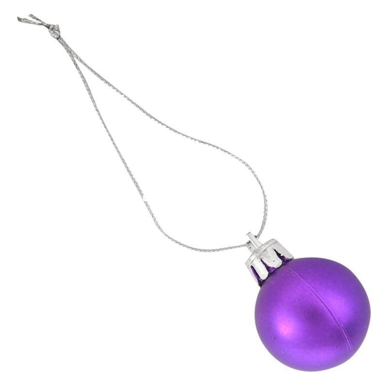 24Pcs-Chic-Christmas-Baubles-Tree-Plain-Glitter-XMAS-Ornament-Ball-Decorati-L5V3 thumbnail 4