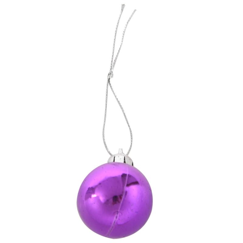 24Pcs-Chic-Christmas-Baubles-Tree-Plain-Glitter-XMAS-Ornament-Ball-Decorati-L5V3 thumbnail 5