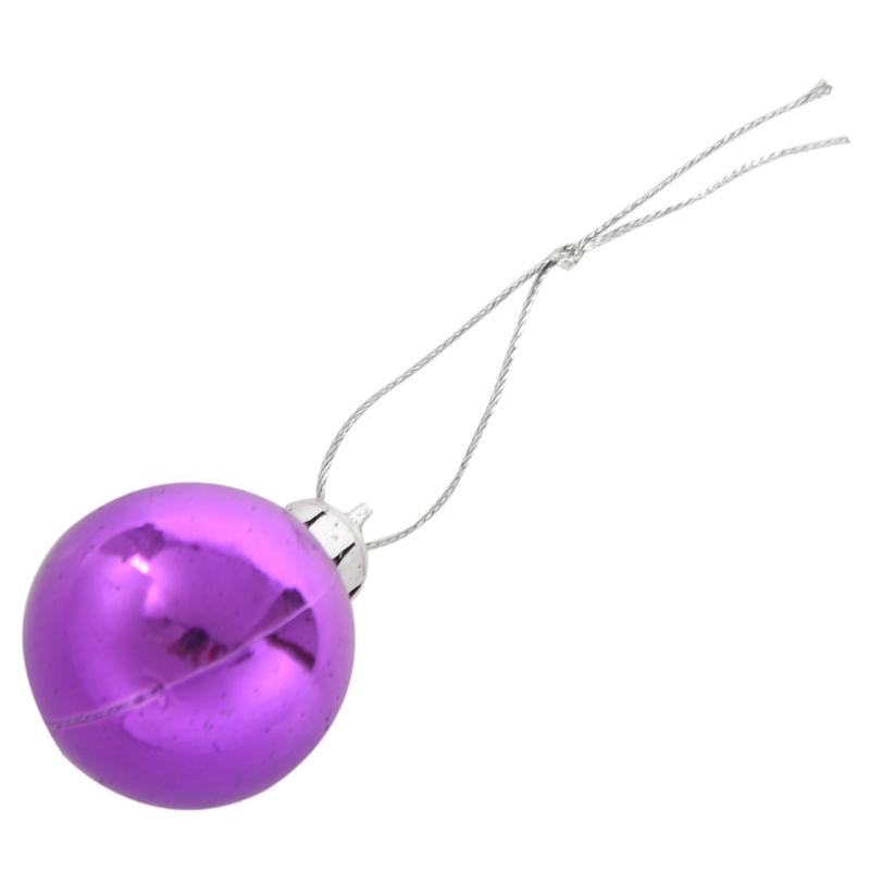 24Pcs-Chic-Christmas-Baubles-Tree-Plain-Glitter-XMAS-Ornament-Ball-Decorati-L5V3 thumbnail 6