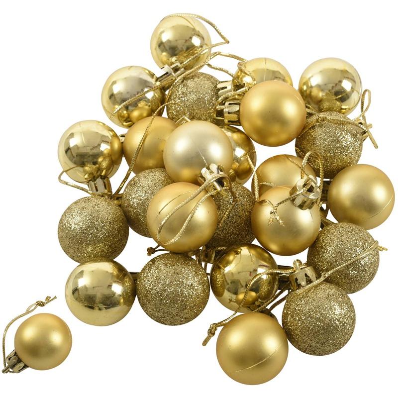 24Pcs-Chic-Christmas-Baubles-Tree-Plain-Glitter-XMAS-Ornament-Ball-Decorati-L5V3 thumbnail 15