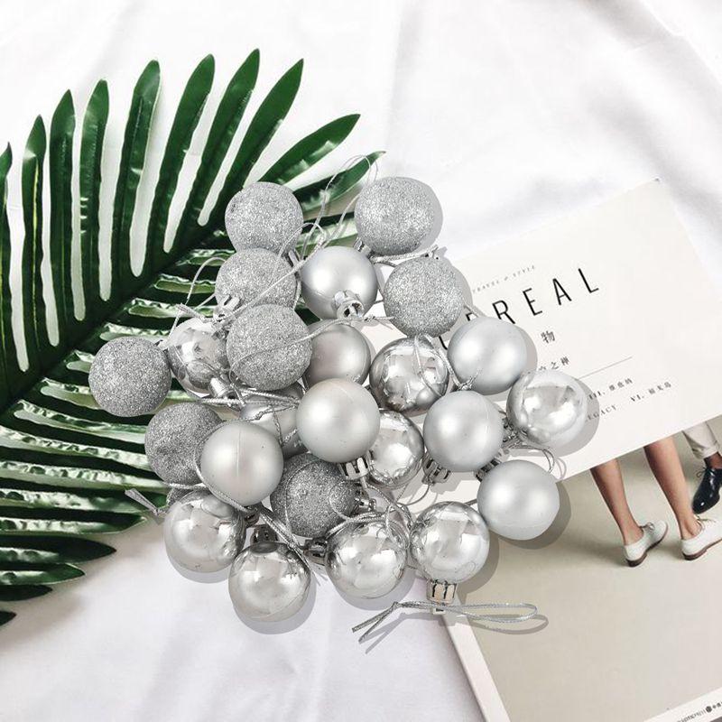 24Pcs-Chic-Christmas-Baubles-Tree-Plain-Glitter-XMAS-Ornament-Ball-Decorati-L5V3 thumbnail 20