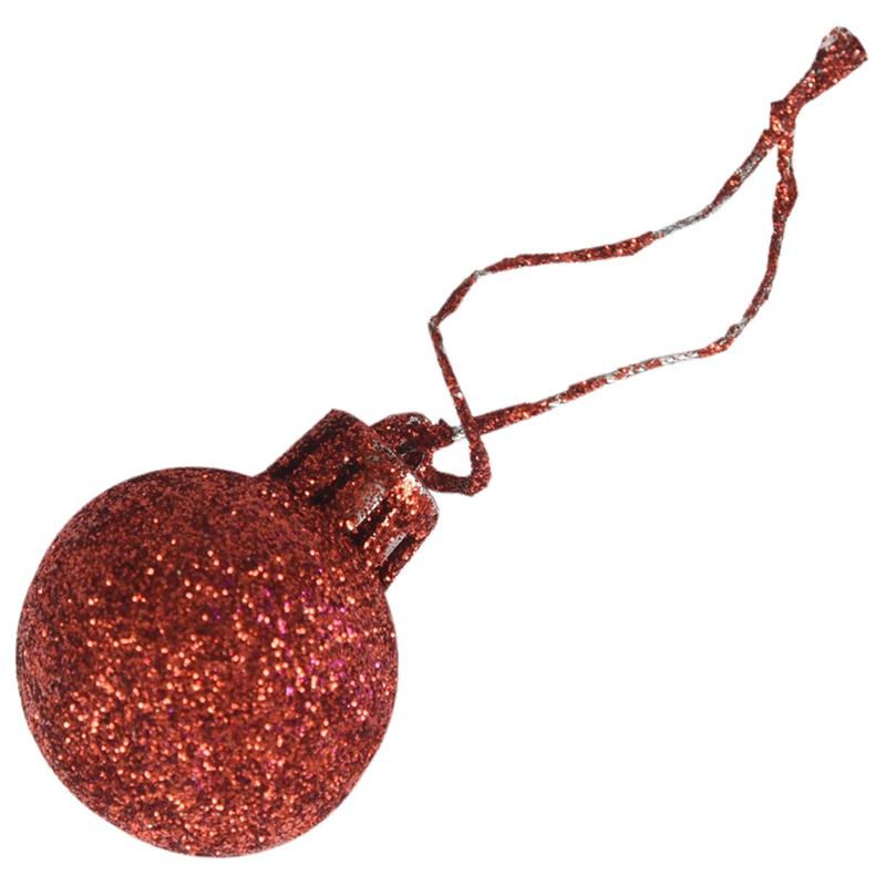 24Pcs-Chic-Christmas-Baubles-Tree-Plain-Glitter-XMAS-Ornament-Ball-Decorati-L5V3 thumbnail 27