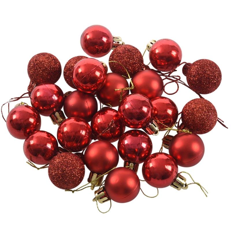 24Pcs-Chic-Christmas-Baubles-Tree-Plain-Glitter-XMAS-Ornament-Ball-Decorati-L5V3 thumbnail 33