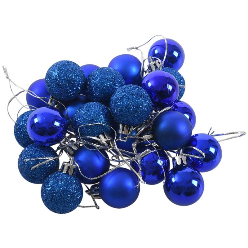 24Pcs-Chic-Christmas-Baubles-Tree-Plain-Glitter-XMAS-Ornament-Ball-Decorati-L5V3 thumbnail 35
