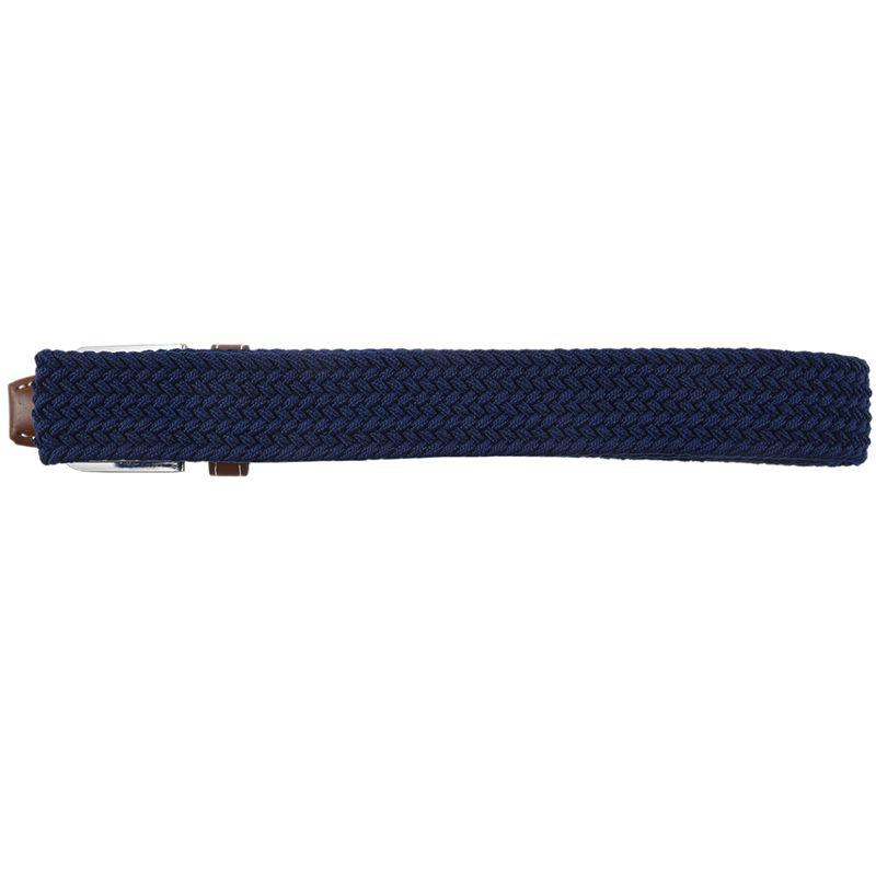 2X-Man-Woman-Leather-Belts-Canvas-Belt-Buckle-Elastic-Waistband-Belt-Navy-Z2P7 Indexbild 3