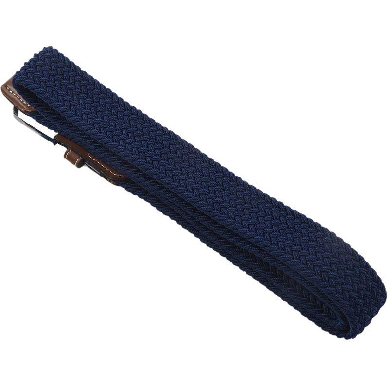 2X-Man-Woman-Leather-Belts-Canvas-Belt-Buckle-Elastic-Waistband-Belt-Navy-Z2P7 Indexbild 4