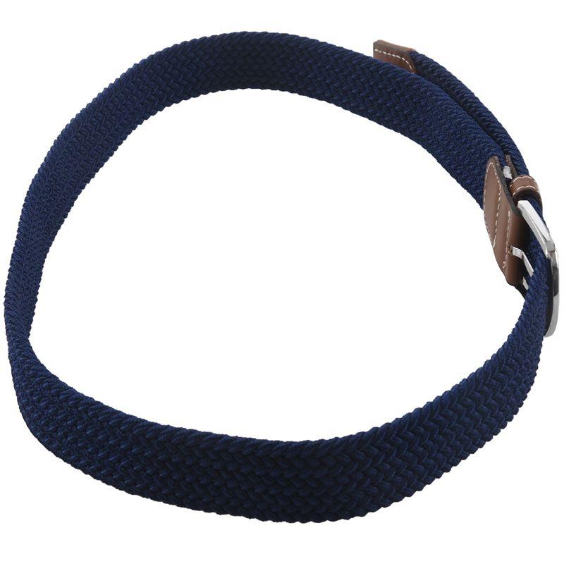 2X-Man-Woman-Leather-Belts-Canvas-Belt-Buckle-Elastic-Waistband-Belt-Navy-Z2P7 Indexbild 7