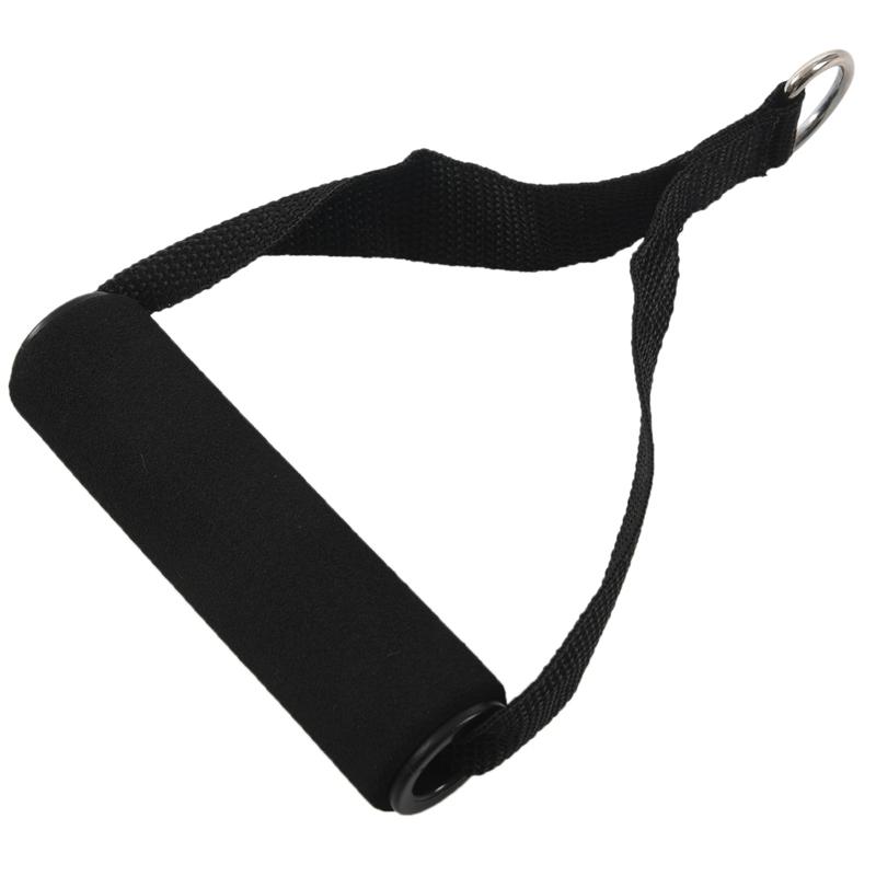 2 X Einhandgriff Einhandkabel Kabelzug Trizeps Trainings Rope Schwarz L6L4