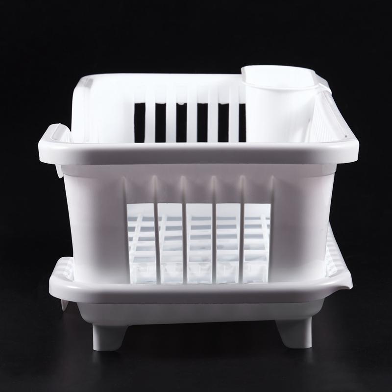 Kitchen-Sink-Dish-Plate-Utensil-Drainer-Drying-Rack-Holder-Basket-Z9V3 thumbnail 11