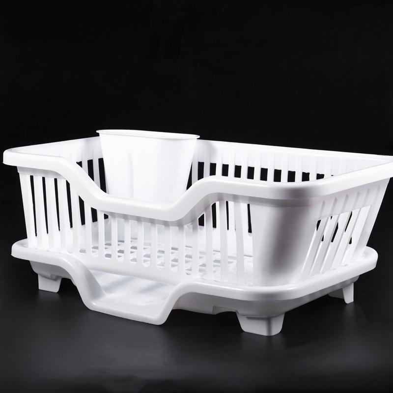 Kitchen-Sink-Dish-Plate-Utensil-Drainer-Drying-Rack-Holder-Basket-Z9V3 thumbnail 12