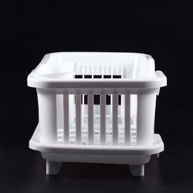 Kitchen-Sink-Dish-Plate-Utensil-Drainer-Drying-Rack-Holder-Basket-Z9V3 thumbnail 13