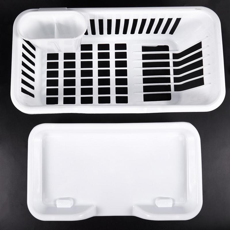 Kitchen-Sink-Dish-Plate-Utensil-Drainer-Drying-Rack-Holder-Basket-Z9V3 thumbnail 14