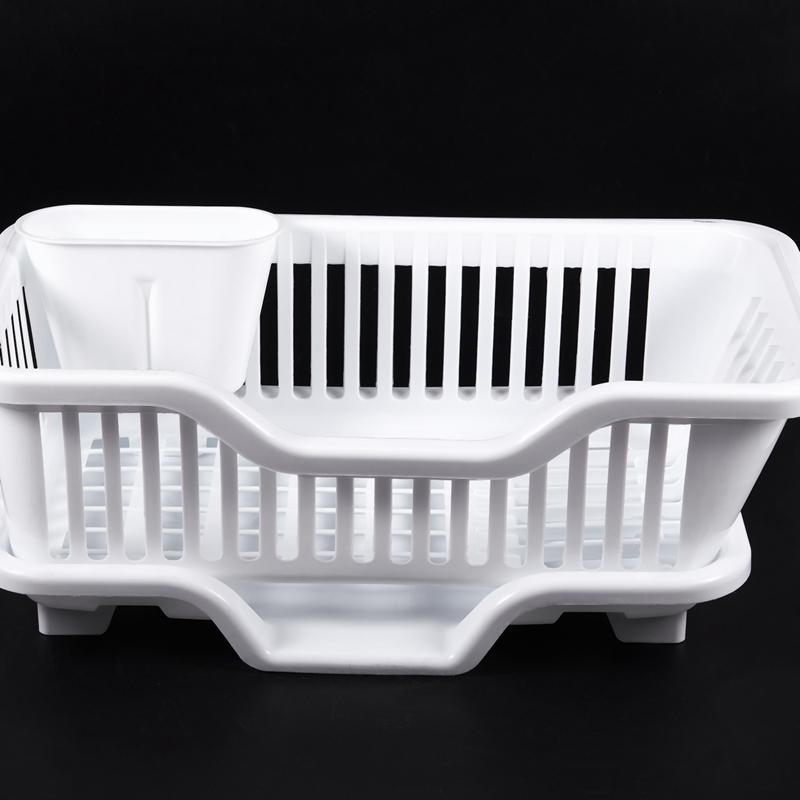 Kitchen-Sink-Dish-Plate-Utensil-Drainer-Drying-Rack-Holder-Basket-Z9V3 thumbnail 15