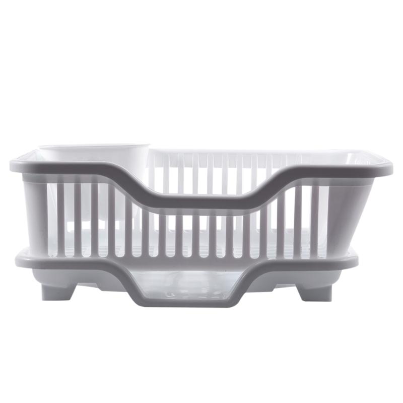 Kitchen-Sink-Dish-Plate-Utensil-Drainer-Drying-Rack-Holder-Basket-Z9V3 thumbnail 9