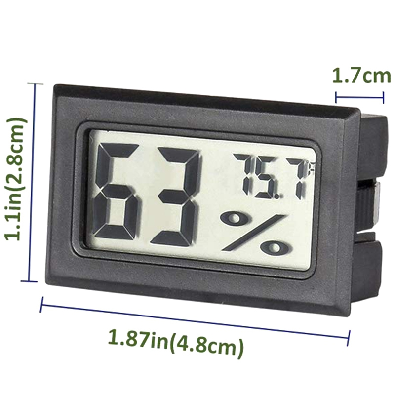 Greenhouse Mini Thermometer Hygrometer Digital Fridge Freezer Room Electronic Temperaturer Humidors Meters with LCD Display for Kitchen Closet Garden