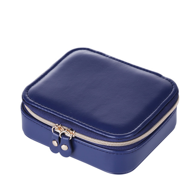 BoiTe-a-Bijoux-Portable-de-Voyage-BoiTe-de-Rangement-Velours-BoiTe-a-Bijoux-J9Y7 miniature 2