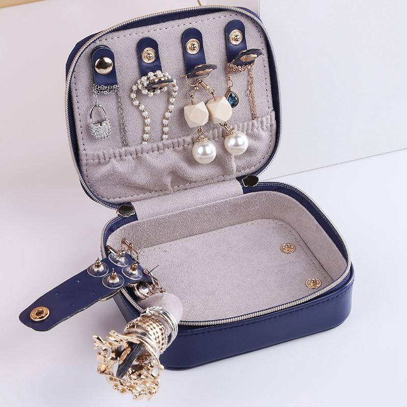 BoiTe-a-Bijoux-Portable-de-Voyage-BoiTe-de-Rangement-Velours-BoiTe-a-Bijoux-J9Y7 miniature 3