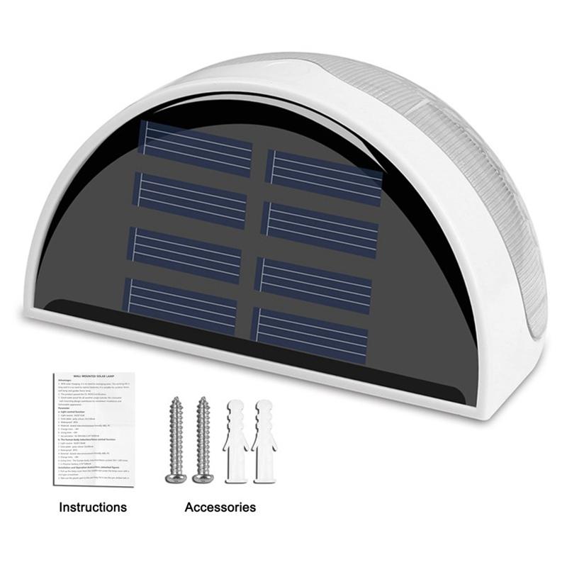 6-LED-Solaire-LumieRe-de-Jardin-CloTure-eTanche-Jardin-Lampe-de-Mur-Auto-Ona-P1I miniature 3