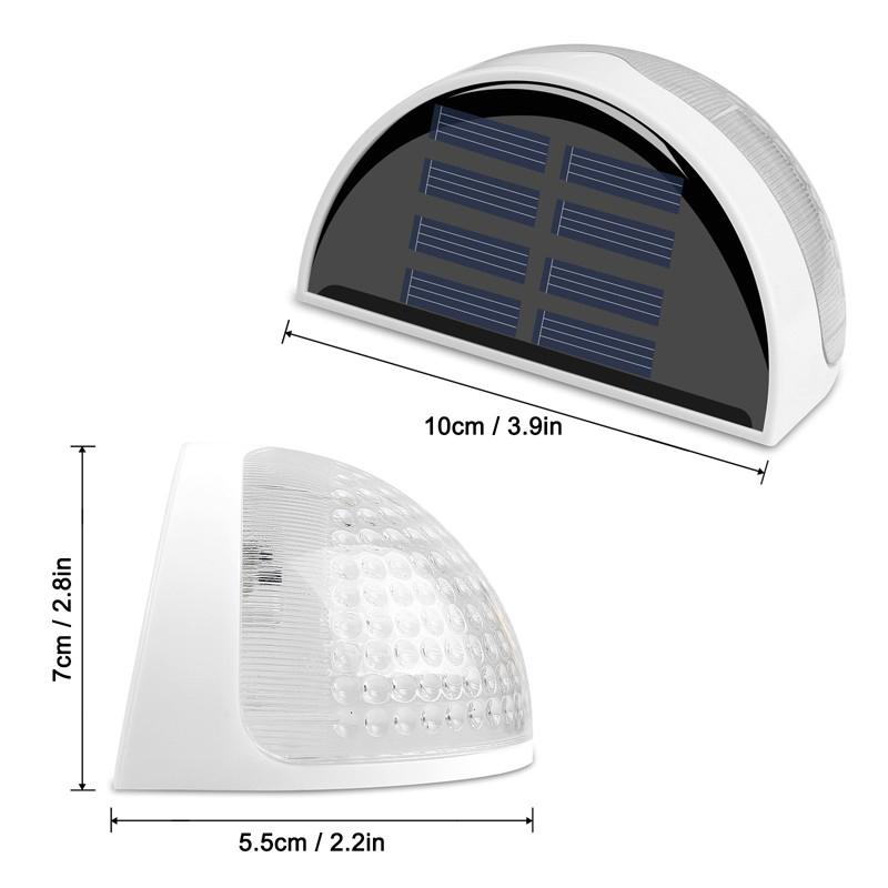 6-LED-Solaire-LumieRe-de-Jardin-CloTure-eTanche-Jardin-Lampe-de-Mur-Auto-Ona-P1I miniature 6