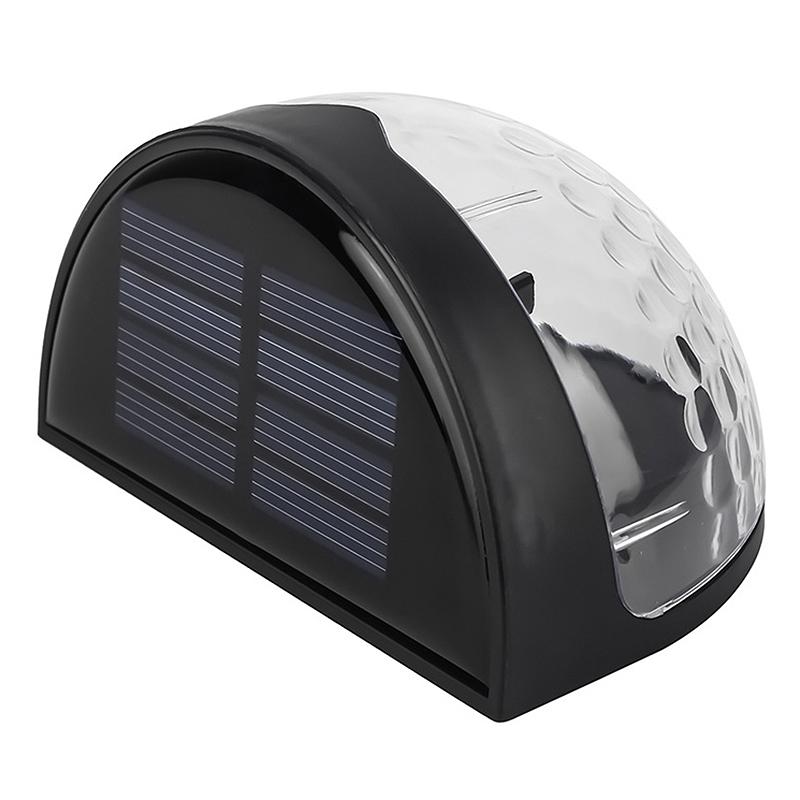 6-LED-Solaire-LumieRe-de-Jardin-CloTure-eTanche-Jardin-Lampe-de-Mur-Auto-Ona-P1I miniature 12