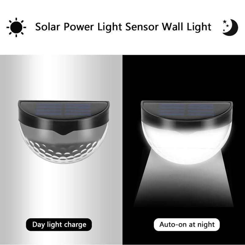 6-LED-Solaire-LumieRe-de-Jardin-CloTure-eTanche-Jardin-Lampe-de-Mur-Auto-Ona-P1I miniature 18