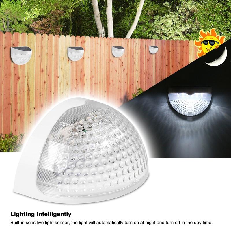 6-LED-Solaire-LumieRe-de-Jardin-CloTure-eTanche-Jardin-Lampe-de-Mur-Auto-Ona-P1I miniature 27