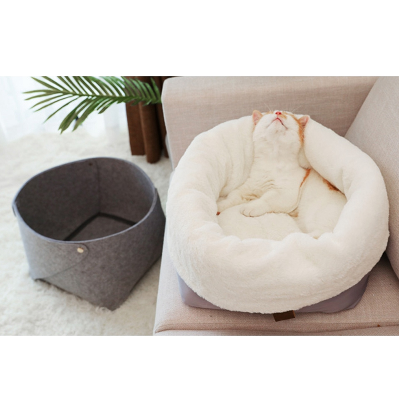 Cat-Basket-Pet-Dog-Bed-for-Cat-Warm-Bed-Dogs-Houses-for-Cats-Pets-Products-J1A8 thumbnail 5