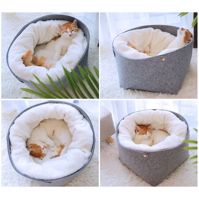 Cat-Basket-Pet-Dog-Bed-for-Cat-Warm-Bed-Dogs-Houses-for-Cats-Pets-Products-J1A8 thumbnail 6