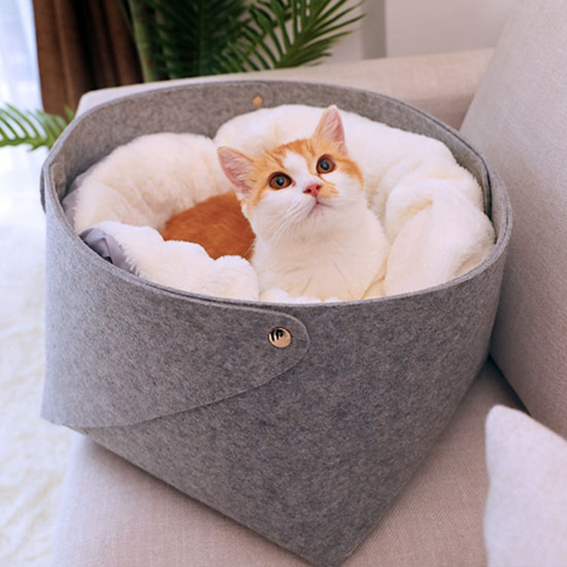 Cat-Basket-Pet-Dog-Bed-for-Cat-Warm-Bed-Dogs-Houses-for-Cats-Pets-Products-J1A8 thumbnail 2