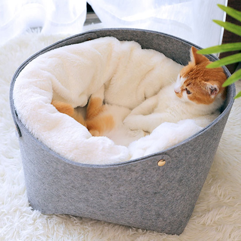 Cat-Basket-Pet-Dog-Bed-for-Cat-Warm-Bed-Dogs-Houses-for-Cats-Pets-Products-J1A8 thumbnail 11