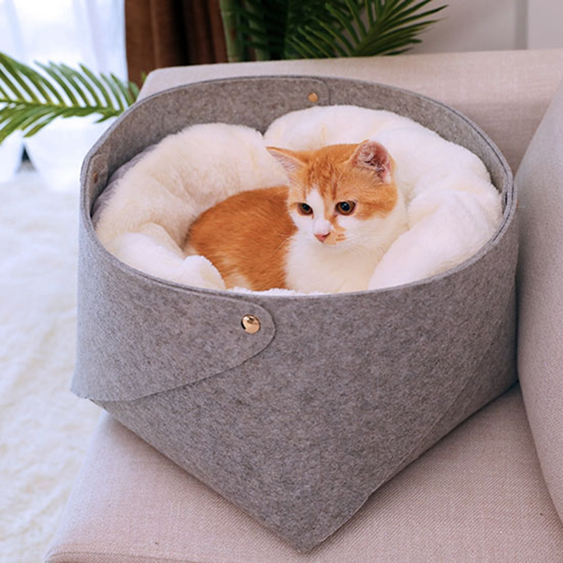 Cat-Basket-Pet-Dog-Bed-for-Cat-Warm-Bed-Dogs-Houses-for-Cats-Pets-Products-J1A8 thumbnail 10
