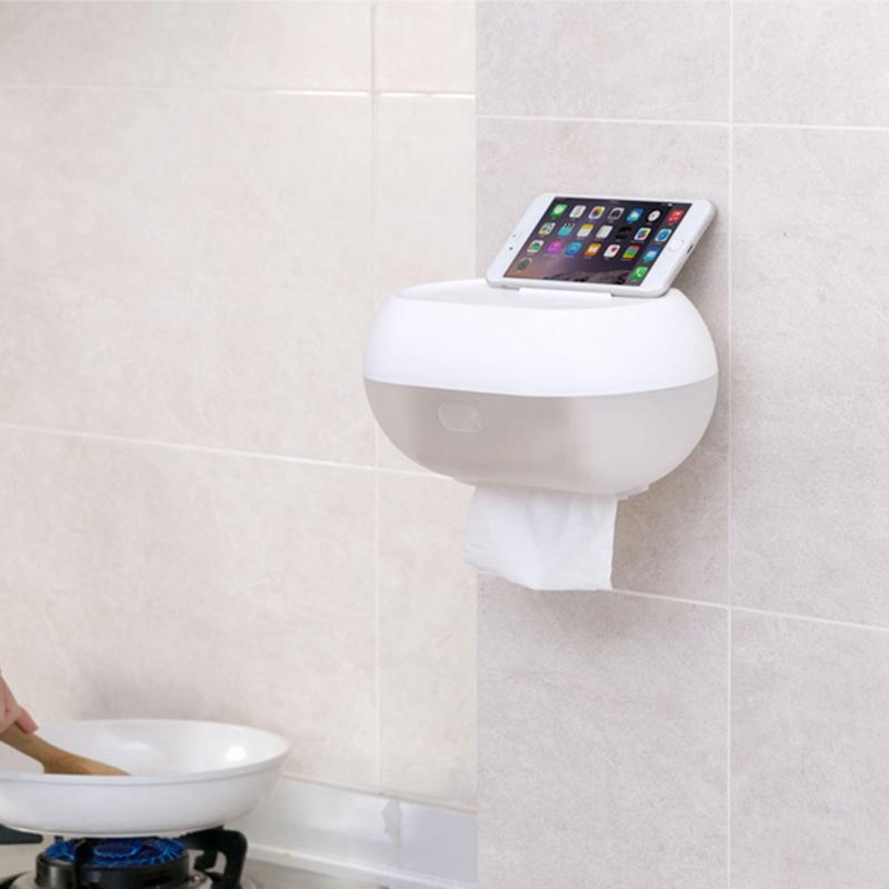 Toilette-BoiTe-a-Mouchoirs-eTanche-PoincOnnage-Mural-Gratuit-Salle-de-Bains-U3S5 miniature 3